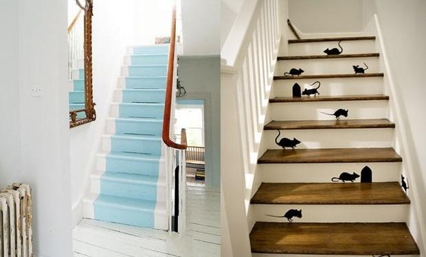Trap verven mogelijkheden prijs tips voorbeelden geverfde trappen for Schilderen voor gang d
