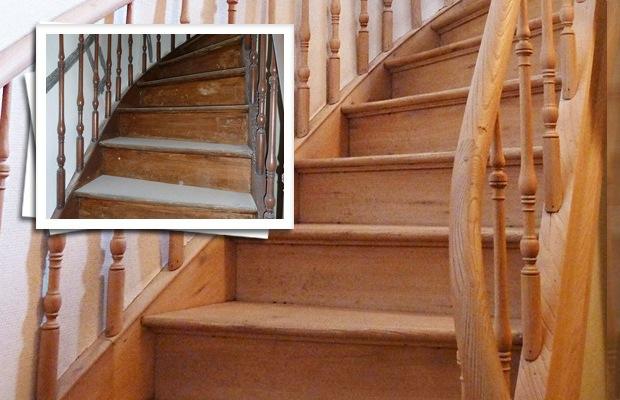 Trap zandstralen prijs advies realisaties en werkwijze - De trap van de bistro ...