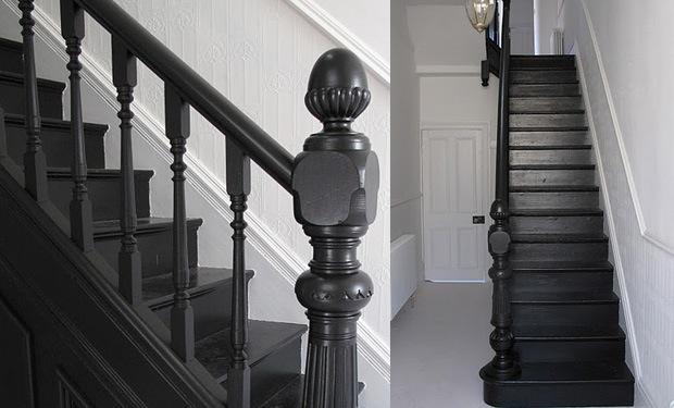 Trap verven werkwijze tips voorbeelden geverfde trappen - Geschilderde houten trap ...