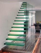 glazen trapafsluiting