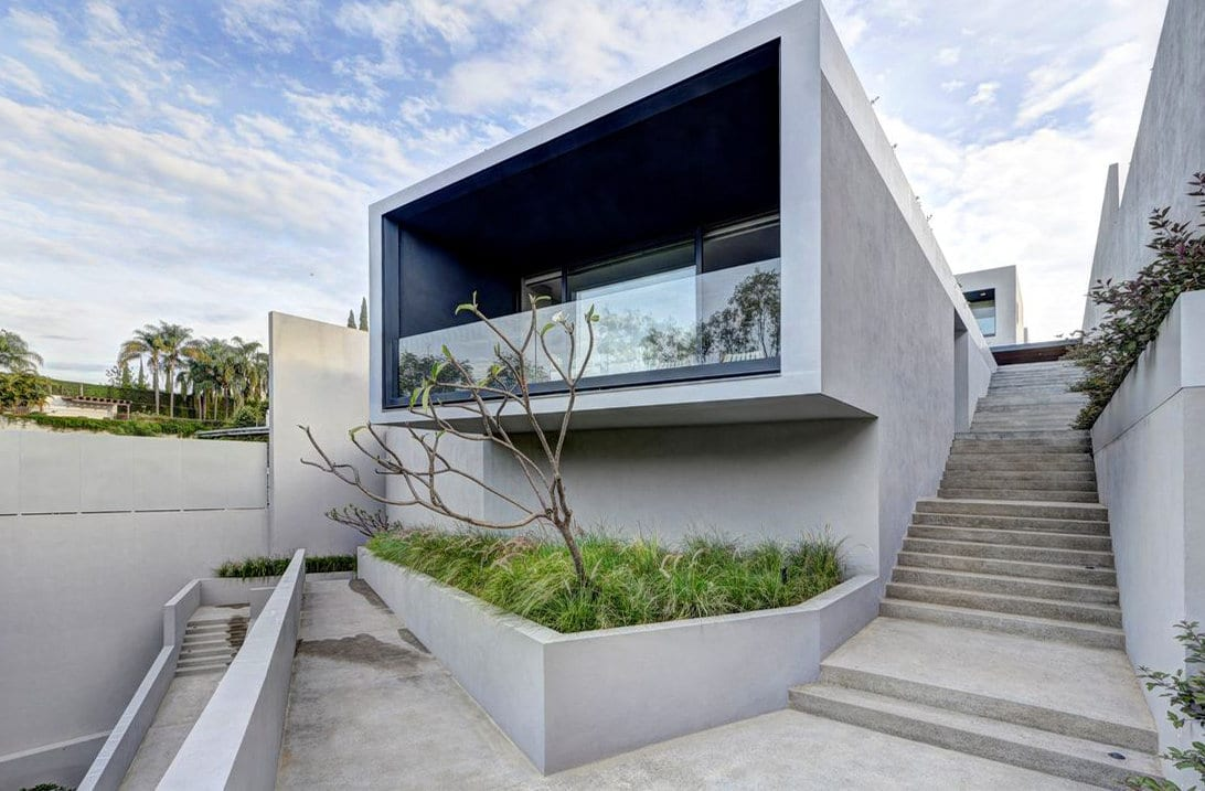 betonnen buitentrap