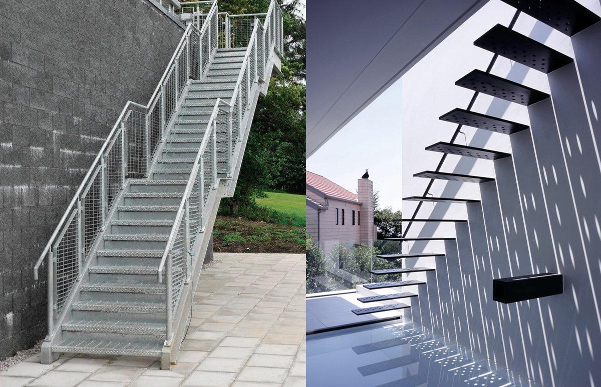 Buitentrappen geschikte materialen met hun voordelen en prijs - Metalen trap ...